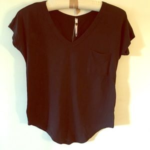 Black Tee with detailed back